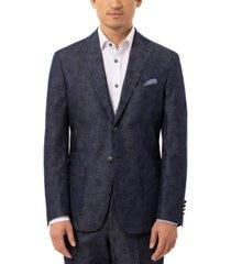 tallia orange men's slim-fit denim blue floral sport coat