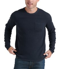 lucky brand men's ribbed pocket sweater