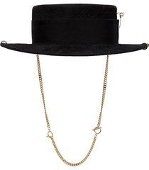 ruslan baginskiy chain strap boater hat - black