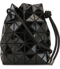 bao bao issey miyake geometric patterned drawstring bag - black