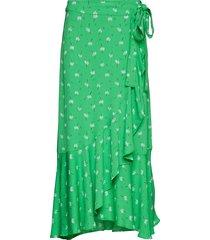 2nd limelight anem knälång kjol grön 2ndday