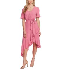 cece cascading belted dress