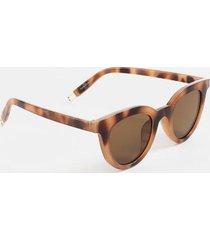 clara metal tip round sunglasses - tortoise