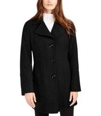 anne klein petite single-breasted walker coat