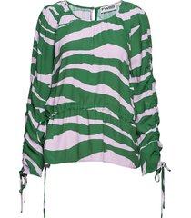 iris blouse lange mouwen groen fall winter spring summer
