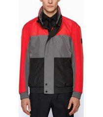 boss men's water-repellent softshell jacket