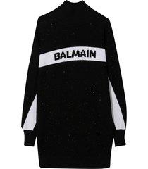 balmain black dress