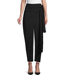 wrap tie ankle trousers