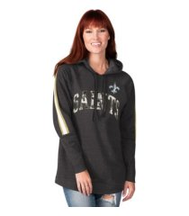 g-iii sports new orleans saints women's double team tunic hoodie