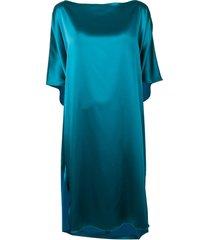 gianluca capannolo boat neck dress - blue