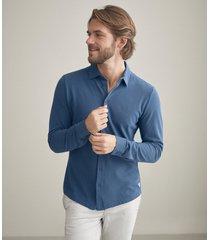 camicia piquet cotone seta