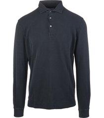 black long sleeve man polo shirt