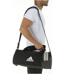 mala adidas conversível 3s duffel bag s - preto/branco