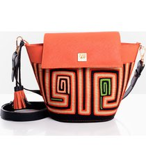bolso manos libres andrea ruiz leather goods it-bag bitb2-0119 naranja