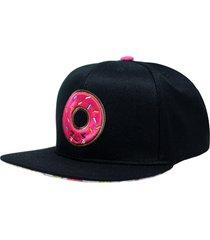 boné aba reta snapback hoshwear donut preto