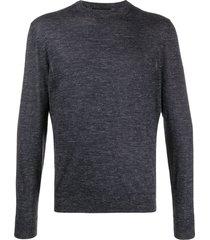 ermenegildo zegna slim fit sweatshirt - blue
