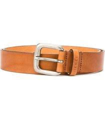 diesel studded leather belt - brown