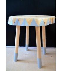 stolik brzozowy szary nr 16