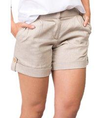 340c6bf08 Shorts - Feminino - Alfaiataria - Linho - 6 produtos com até 70.0 ...