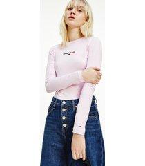tommy hilfiger women's logo bodysuit romantic pink - s