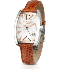 locman designer women's watches, panorama mother-of-pearl dial dress watch