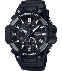 reloj analógico hombre casio mcw-110h-1a cronógrafo - negro