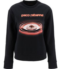 paco rabanne printed sweatshirt