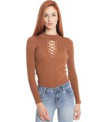 sweater wados solid marrón - calce ajustado