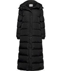 arnikki solid coat gevoerde lange jas zwart marimekko