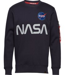 nasa reflective sweater sweat-shirt trui blauw alpha industries
