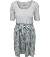tweedelige zijden jurk