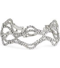 cristabelle crystal open swag line bracelet in crystal/rhodium at nordstrom