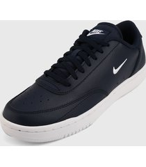tenis lifestyle azul navy-blanco nike court vintage