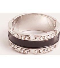 anillo plateado uni