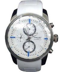 reloj virox hombre r01tmg6898n1-72 análogo blanco