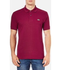 lacoste men's polo shirt - bordeaux - 7/xxl - red