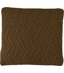 capa almofada tricot 40x40cm / 45x45cm c/zãper sofa trico cod 1025 marron - marrom - feminino - dafiti
