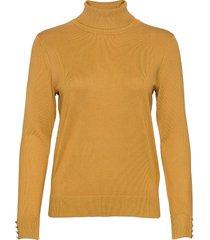 pullover-knit light turtleneck polotröja gul brandtex