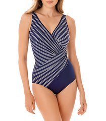 belmont striped one-piece swimsuit