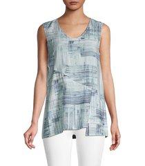 nic+zoe women's shoreline abstract sleeveless top - size xxl