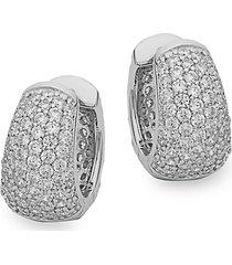 sterling silver embellished hoop earrings