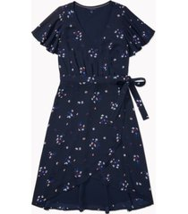 tommy hilfiger adaptive women's floral-print wrap dress with velcro closure