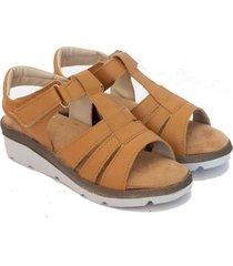 sandalia de cuero suela valentia calzados brenda