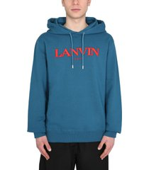 lanvin sweatshirt with embroidered logo