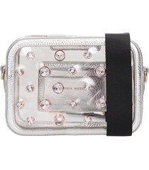 sophia webster dina shoulder bag in silver leather
