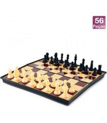 jogo xadrez imantado magnã©tico dobrã¡vel - preto - dafiti