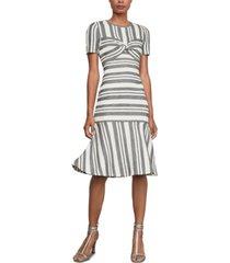 bcbgmaxazria striped twist-front sheath dress