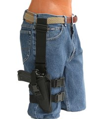 """tactical thigh gun holster with mag pouch for smith & wesson 422 with 6"""" barrel"""