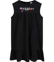 black dress for babygirl with double logo