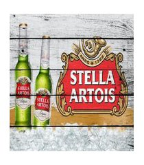 placa decorativa vintage cerveja garrafa branca mdf 28x18cm